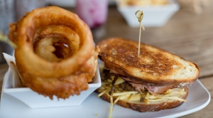 #6: monsieur $9 & onion rings $3.25